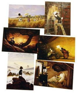 Postkartenset mit 6 Karten / Set #7