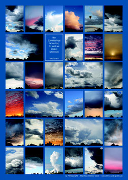 Poster Motiv: Wolken Poster 02, DIN A1, Karton