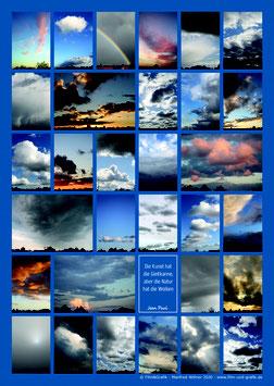 Poster Motiv Wolken 01 DIN A1 Karton
