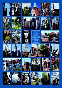 Poster Motiv: Lübeck 02 DIN A3 Papier