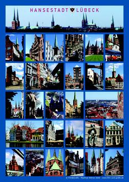 Poster Motiv: Lübeck 01 DIN A2 Papier