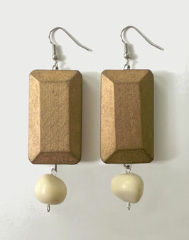 Pair of earrings DODY -  Collection  I <3 LE BOIS