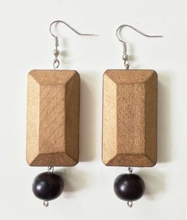 Pair of earrings BEA -  Collection  I <3 LE BOIS