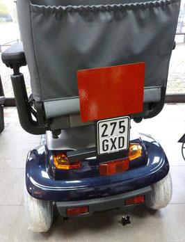 Heckmarkierungs-Folienhalter aus Stahl, Z-Reflektor und Nummernschildaufnahme
