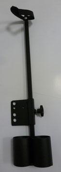 Universal-Doppeltopf-Stockhalter für 2 Stöcke/Krücken (höhenverstellbar)