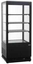 Bartscher Mini Kühlvitrine 78L, schwarz