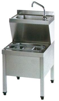 Handwaschenbecken mit ausgusskombination