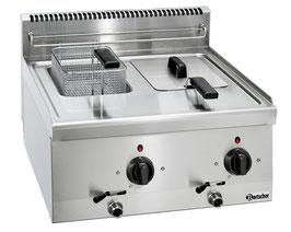 Bartscher Elektro-Fritteuse mit 2 x 6 Literbecken Serie 600
