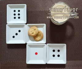 サイコロ豆皿