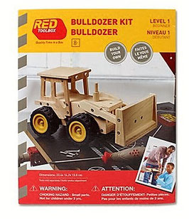 Bulldozer bois à construire - Red Toolbox