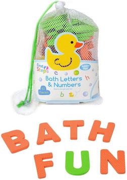 Lettres et chiffres pour le bain
