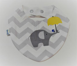 Bavoir bandana - éléphant parapluie