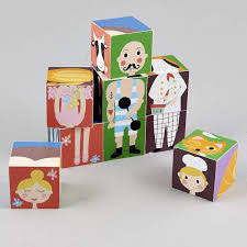 Puzzle cubes en bois personnages - Floss and Rock