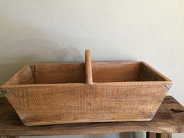 Oude houten pluk bak / rijstbak