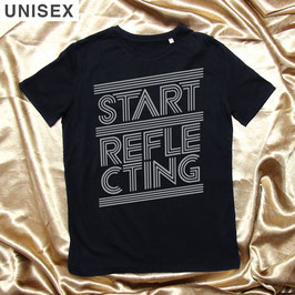 "Black Unisex ""START REFLECTING"""