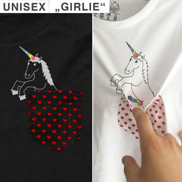 "Black Unisex/""Girlie""-Shirt ""UNICORN"""