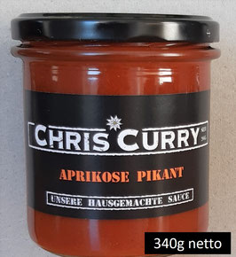 ChrisCurry Aprikose Pikant 340g