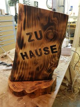 """Türschild /Türstehle """"ZU HAUSE"""""""