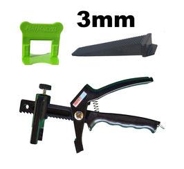 Kit 3mm PRO + pince PerfectLevel 7710 en polyamide armé fibre de verre.
