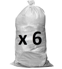 Lot de 6 sac à gravats 65x105cm