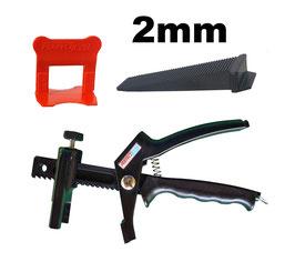 Kit 2mm PRO + pince PerfectLevel 7710 en polyamide armé fibre de verre.
