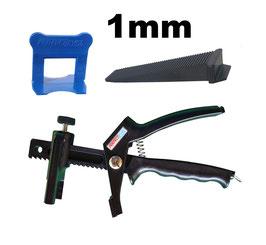 Kit 1mm PRO + pince PerfectLevel 7710 en polyamide armé fibre de verre.