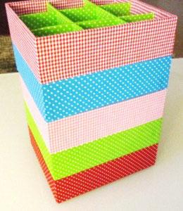 Sterne in vielen Farben, Stapelbox, Box ohne Deckel, Höhe 6 cm, im Außenstoff deiner Schmuckbox, Schubladenbox