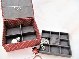 Asanoha rot,  große Schmuck-Schatulle,  personalisierbar, ein tolles Geschenk zum Geburtstag
