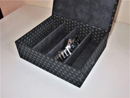 Uhrenschatulle, Brillenbox mit Klappdeckel in Varianten, personalisierbar, ein edles Geschenk auch für Männer