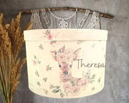 personalisierte Erinnerungsbox Theresa, süßes Patengeschenk, Erinnerungskiste zur Geburt, Taufe schenken, Babyzimmerdeko, Baby-Andenken-Box