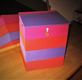 Flamingo pink, Schmuck-Turm , Kästen gestapelt, stabile Mädchenschmuckbox personalisiert