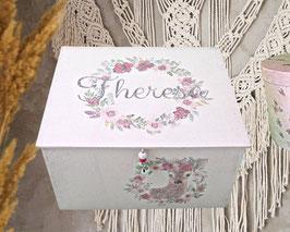 XXL Schmuckkasten Theresa,  personalisiert Boho-RosenReh, sehr große Schmuckbox, ein großartiges Geschenk für Mädchen und Frauen