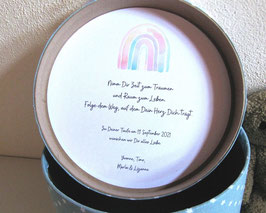 Widmung - Schenke deinen Liebsten eine Erinnerungsbox mit Botschaft, Segenswunsch, Spruch zur Taufe oder Geburt
