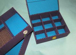 Fantasia grau und bunt, Schmuck-Turm, Kästen gestapelt, stabile Mädchenschmuckbox personalisiert