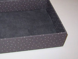 Pusteblumen himmelblau , Stapelbox, Box ohne Deckel, Höhe 6 cm,  im Außenstoff deiner Schmuckbox, Schubladenbox