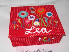 Lolli Pop in vielen Farben, Kinderschmuckkasten 4 Fächer,  mit Einsatzbox 10 Fächer - ein großartiges, personalisiertes Geschenk für eine kleine Prinzessin