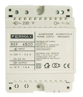 4800 Alimentador Fermax DIN4 230VAC/12VAC-1,5A