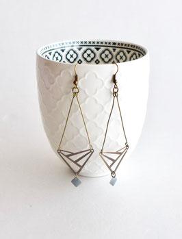 Longues Boucles d'oreilles Art Déco triangles