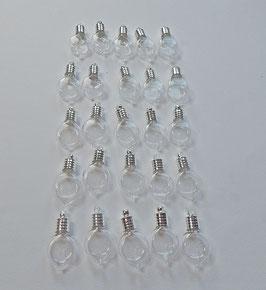 Tropfen Glas Phiole, 6 mm, 25 Stck.