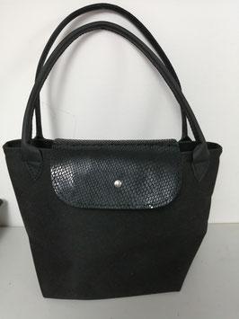 Schwarze Tasche - Unikat