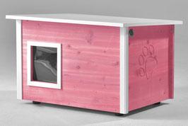Katzenhaus - Katzenhütte, mit Heizung, Wände & Boden isoliert - Farbe: violett