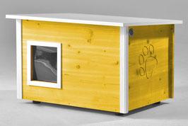 Katzenhaus - Katzenhütte (Boden und Wände isoliert) - Farbe: gelb