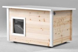 Katzenhaus - Katzenhütte, mit Heizung, Wände & Boden isoliert