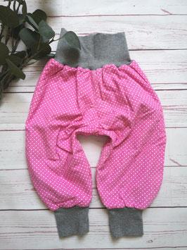 Pumphose zum wenden Feincord rosa /Sterne grau