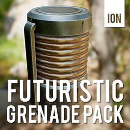 Futuristic Grenade Asset pack
