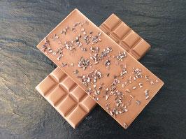 Vollmilch Schokolade 35% mit Kakaobruch - 95 Gramm