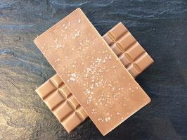 Vollmilch Schokolade 35% mit Fleur de Sel - 95 Gramm