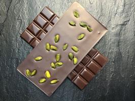 Zartbitter Schokolade 55% mit ganzen Pistazien - 95 Gramm