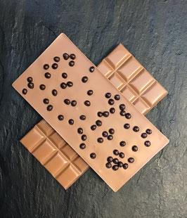 Vollmilch Schokolade 35% mit zartbitter Knusperperlen - 95 Gramm