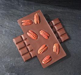 Zartbitter Schokolade 55% mit gerösteten Pekannüssen  - 95 Gramm